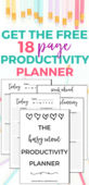 Productivity planner pin