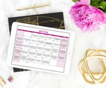 May 2018 money saving calendar flatlay ipad