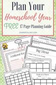 Plan your homeschool year pin