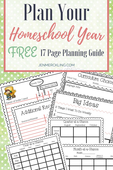 Plan your homeschool year pin