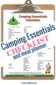 Camping checklist pin