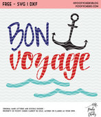 Bon voyage anchor