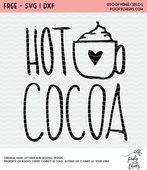 Hot cocoa free cut file