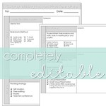 5 day lesson plan template editable pic