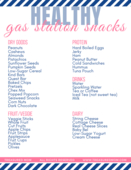 Healthy gas station snack list