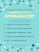5 strategies for littles about emergencies printable