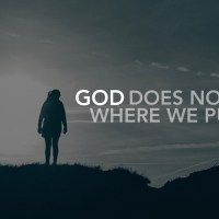 God does not stay where we put him.