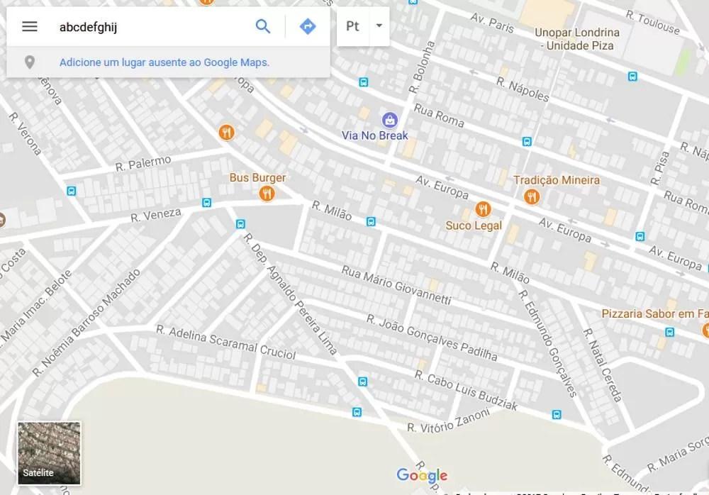 Classificação no Google Maps
