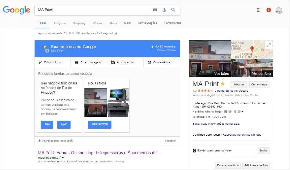 Melhorar posição de classificação no Google Maps