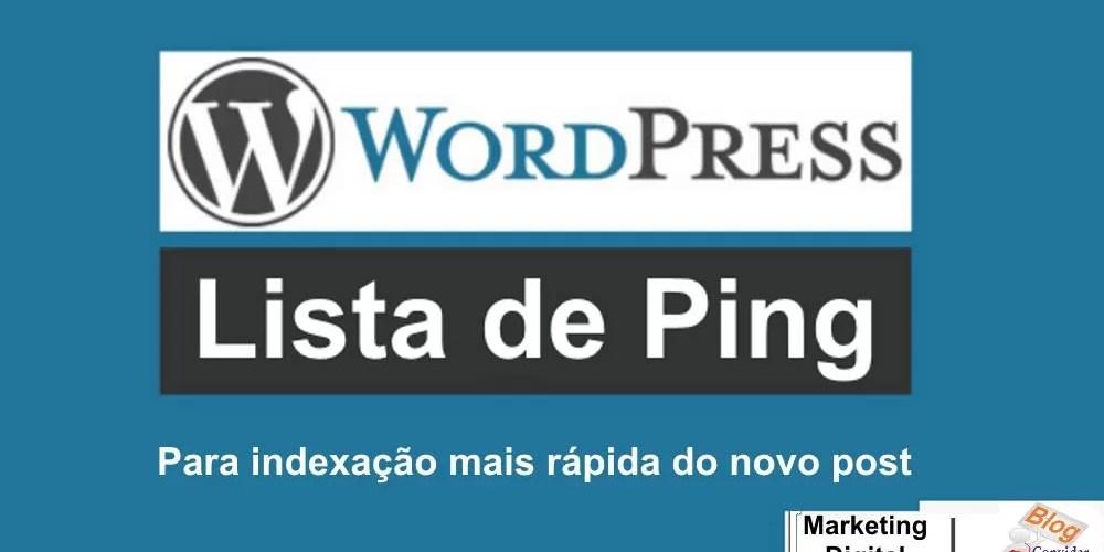 Lista de Ping do Wordpress