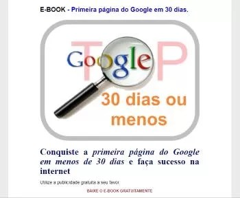 E-book primeira pagina do google em 30 dias