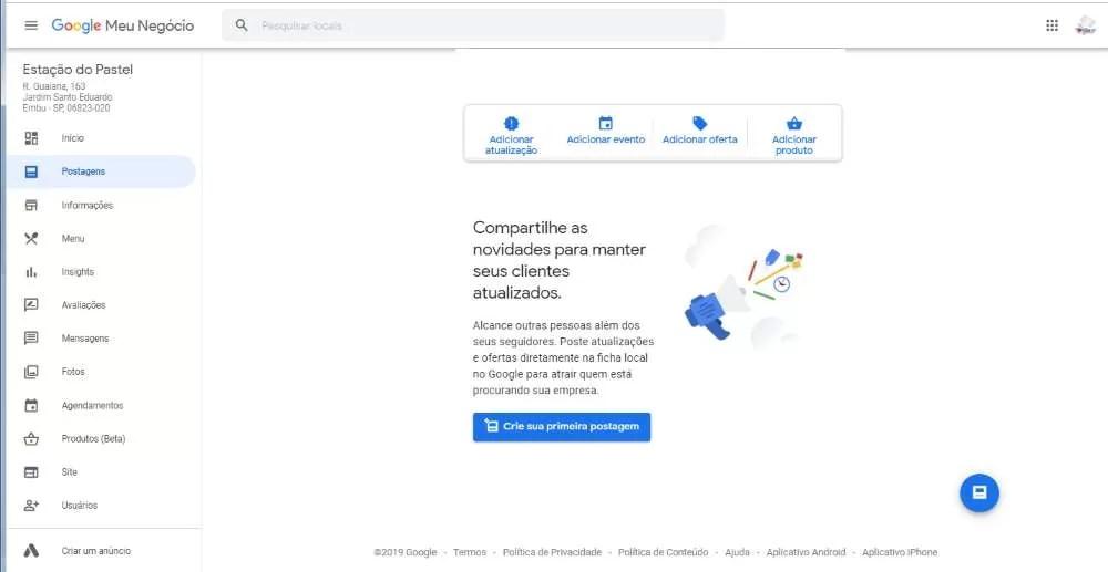 Como Colocar um Anúncio na Primeira Página do Google Gratuitamente Google Meu Negócio postagens