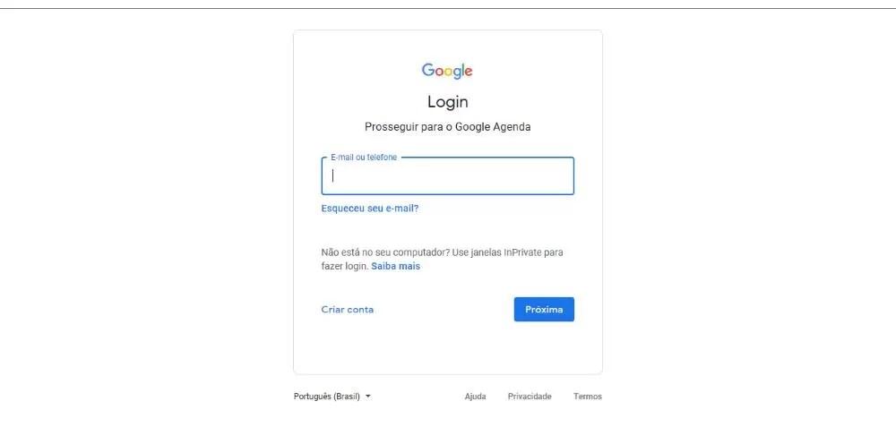 Controle de datas importantes Calendario Google