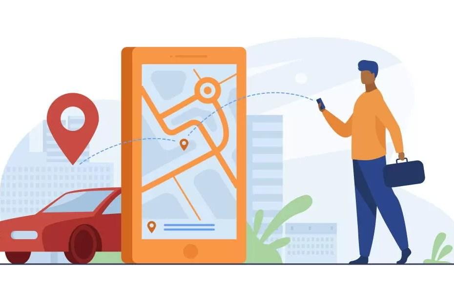 waze customer-using-online-app-for-taxi-order-or-car-rent
