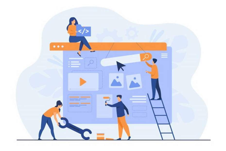 O que é marketing equipe-de-marketing-digital-construindo-landing-page-ou-home-page
