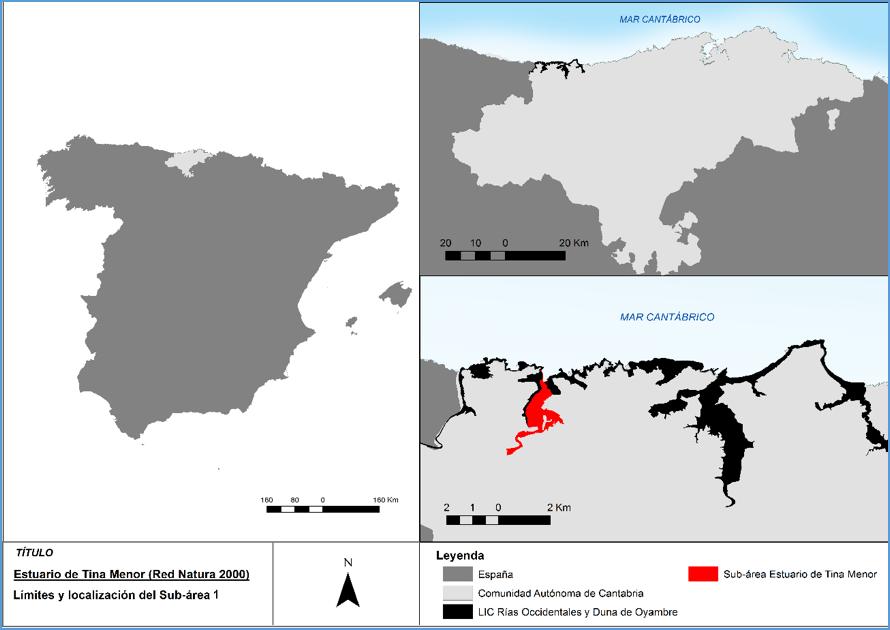 Localización del estuario de Tina Menor