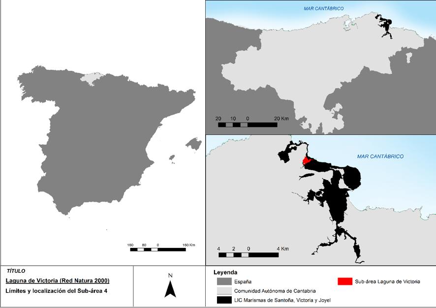 Localización de la laguna de Victoria