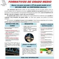 NUEVO CURSO DE ACCESO A LA FP DE GRADO MEDIO EN EL IES SAN JOSÉ DE CORTEGANA