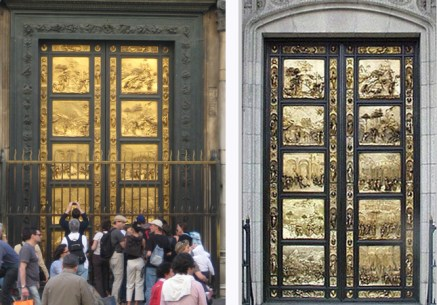 Ghiberti's Doors: Florence (left) and San Francisco