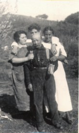 Antonio, Maria (right), Al (behind with all the hair)
