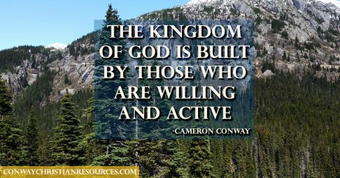 the kingdom os built by those who are living and active