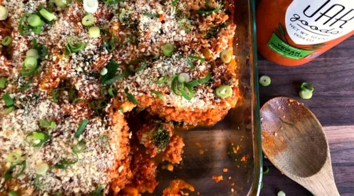 Vegan Vodka Quinoa & Broccoli Bake