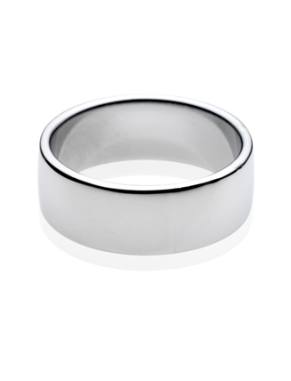 Platinum Easy Fit Wedding Band 8mm