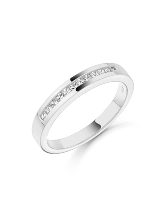 18ct White Gold Diamond Set Wedding Ring 012