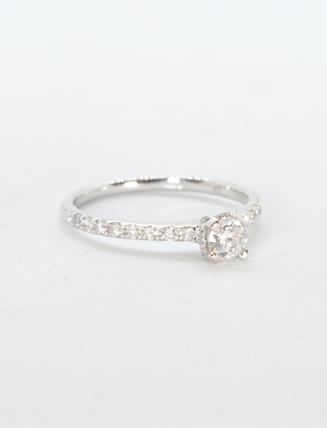 9k White Gold Diamond Engagement Ring .25 carat