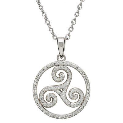 f8efaabd5afa5 Sterling Silver Swarovski Crystal Celtic Pendant - Conway's Jewellers