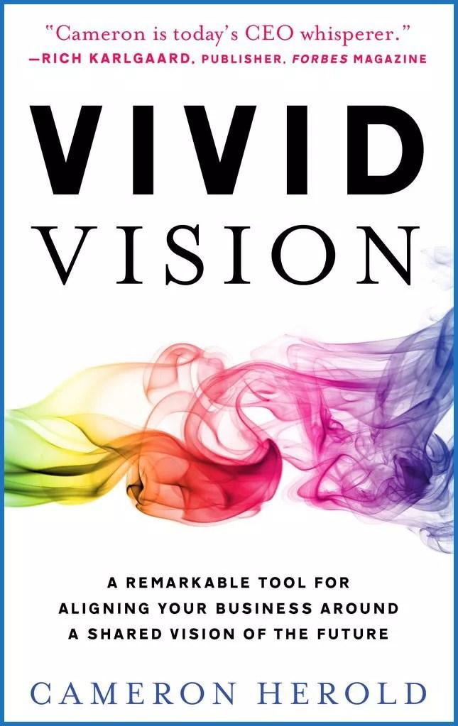 Vivid Vision book cover by Cameron Herold