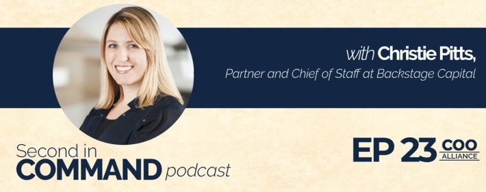 Second In Command Podcast - Christie Pitts (COO Alliance)