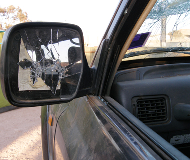 Damages sustained to family vehicle