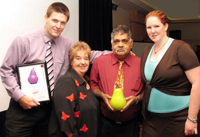 The Saints Football Club Winners 2006 accepted by Mark Bell, Lyn Breuer MP, Robin Walker and Karen Bell