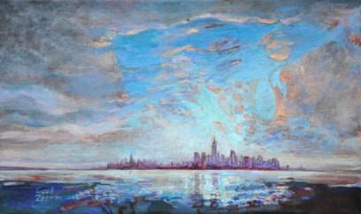Dutch light on Manhattan / ad / 32x52
