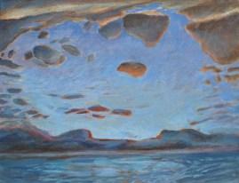 Oranje wolk / ad / 30x45