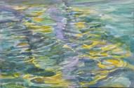 Spiegeling geel / aq / 40x50