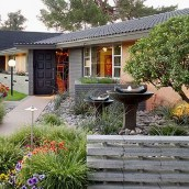 Gorgeous Front Yard Courtyard Landscaping Ideas 08