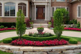 Gorgeous Front Yard Courtyard Landscaping Ideas 13