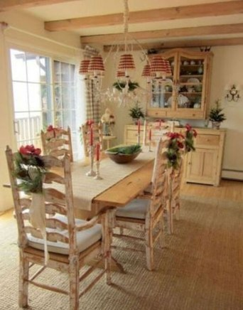 Incredible Fancy French Country Dining Room Design Ideas 27