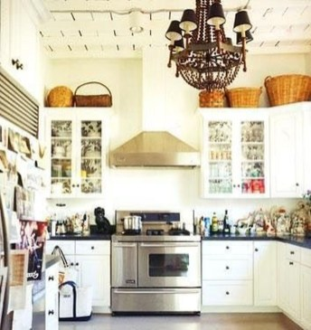 Awesome Decorating Above Kitchen Cabinets 14