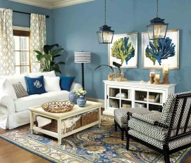 Comfy Coastal Themed Living Room Decorating Ideas 08