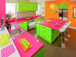 Incredible Colorful Kitchen Ideas 03