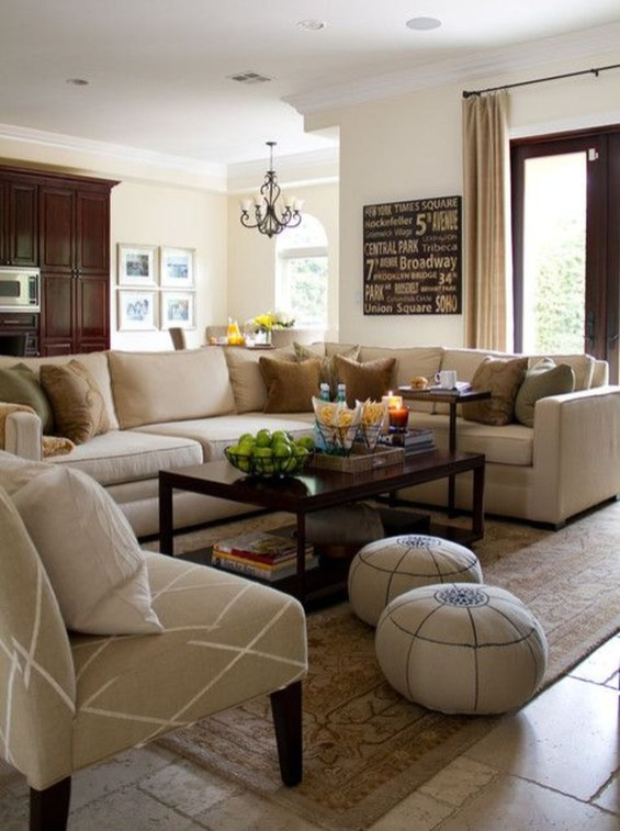 The Best Beige Living Room Design Ideas 45