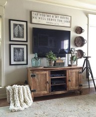 Cozy Minimalist Farmhouse Tv Stand Ideas 04