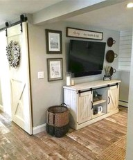 Cozy Minimalist Farmhouse Tv Stand Ideas 11