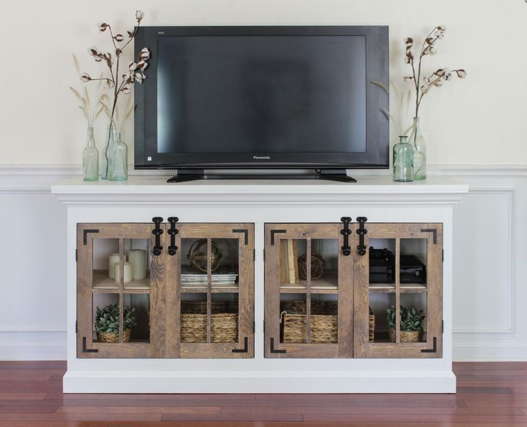 Cozy Minimalist Farmhouse Tv Stand Ideas 19