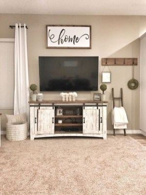 Cozy Minimalist Farmhouse Tv Stand Ideas 24