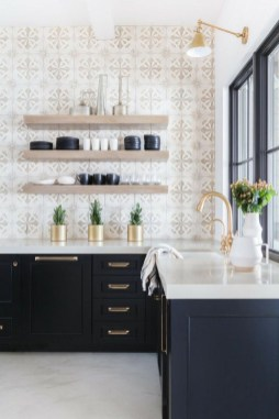 Cute Farmhouse Kitchen Backsplash Ideas 36