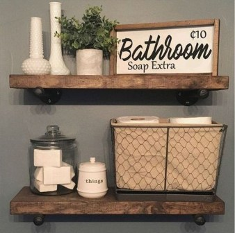 Lovely Farmhouse Bathroom Accessories Ideas 25